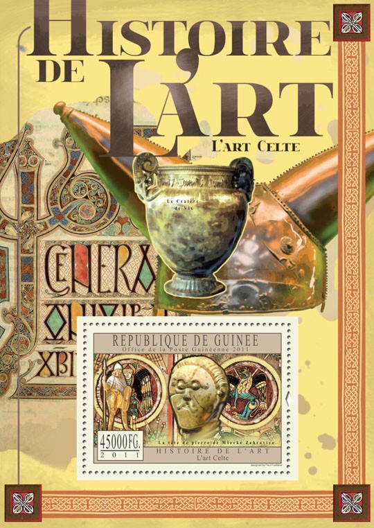 Celtic Art. - Issue of Guinée postage stamps