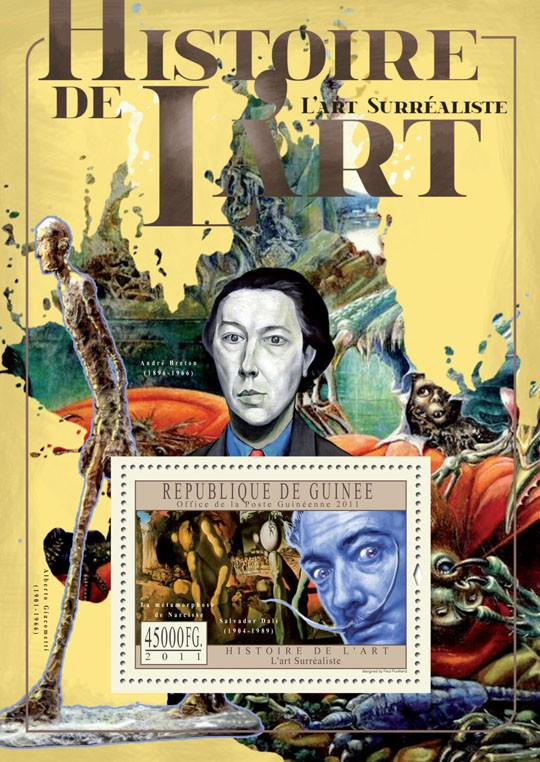 Surrealist Art. - Issue of Guinée postage stamps