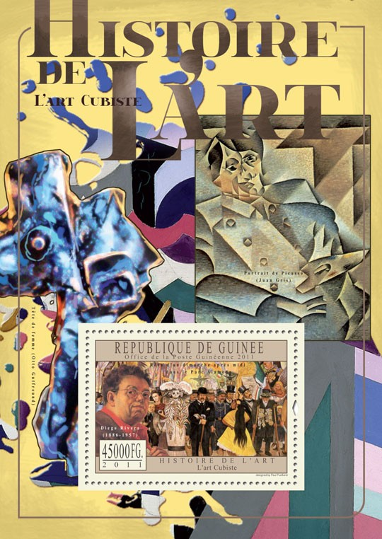Cubist Art. - Issue of Guinée postage stamps