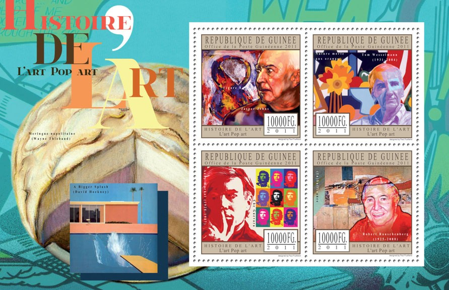 Pop Art. - Issue of Guinée postage stamps