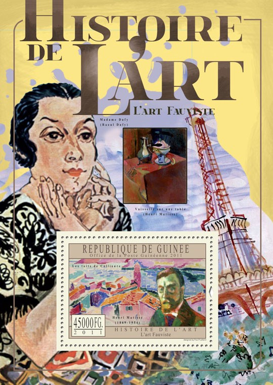 Fauvist Art. - Issue of Guinée postage stamps