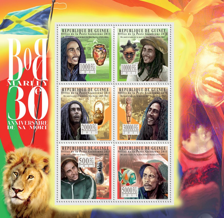 30th Anniversary of Death of Bob Marley. - Issue of Guinée postage stamps