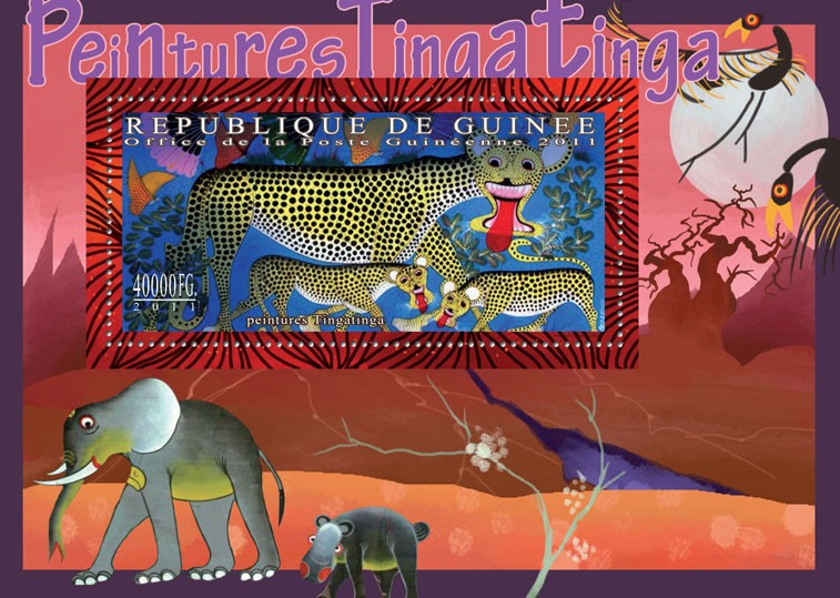 Tinga tinga Paintings. - Issue of Guinée postage stamps
