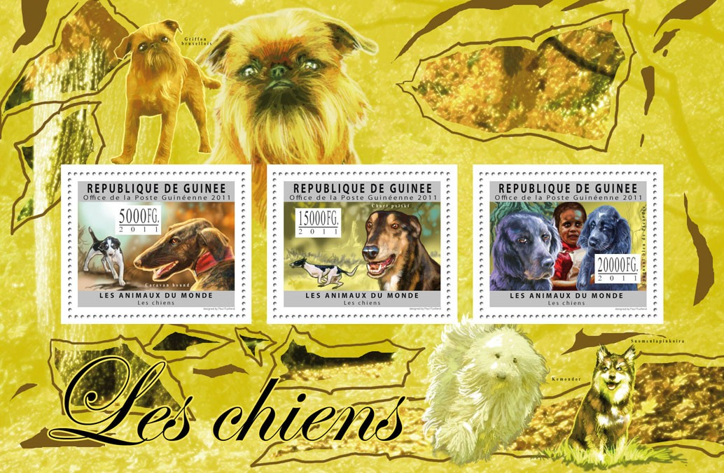 Dogs of the World I. - Issue of Guinée postage stamps