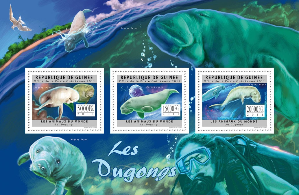 Dugongs. - Issue of Guinée postage stamps