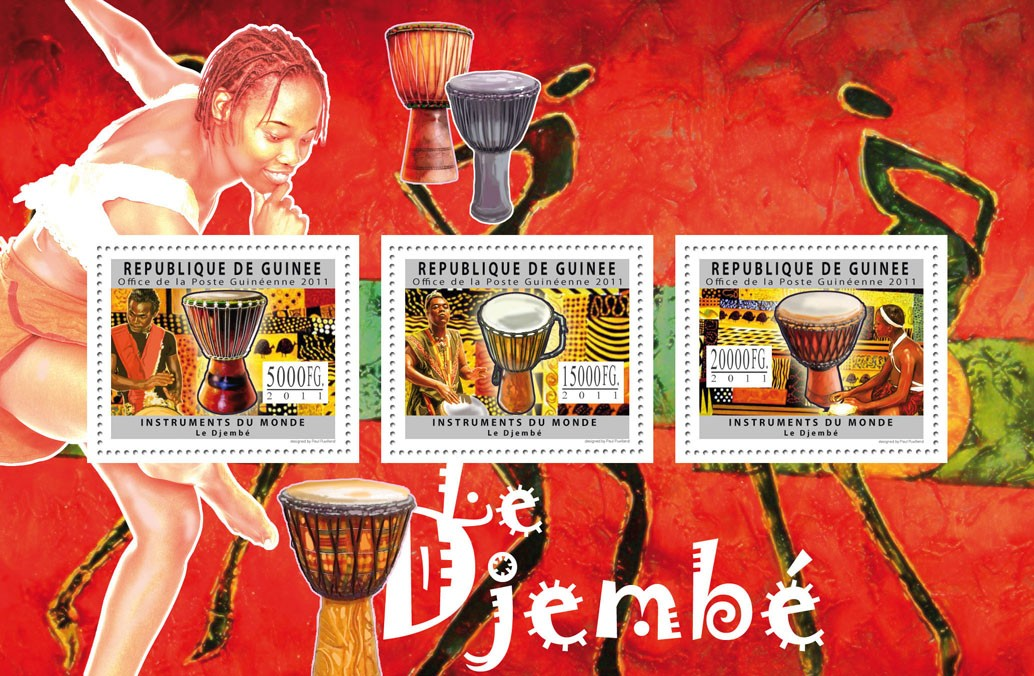 Instruments of the World - Issue of Guinée postage stamps