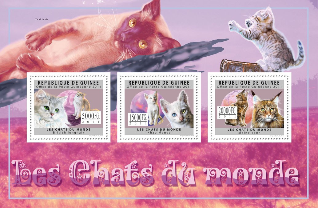 Cats of the World I. - Issue of Guinée postage stamps