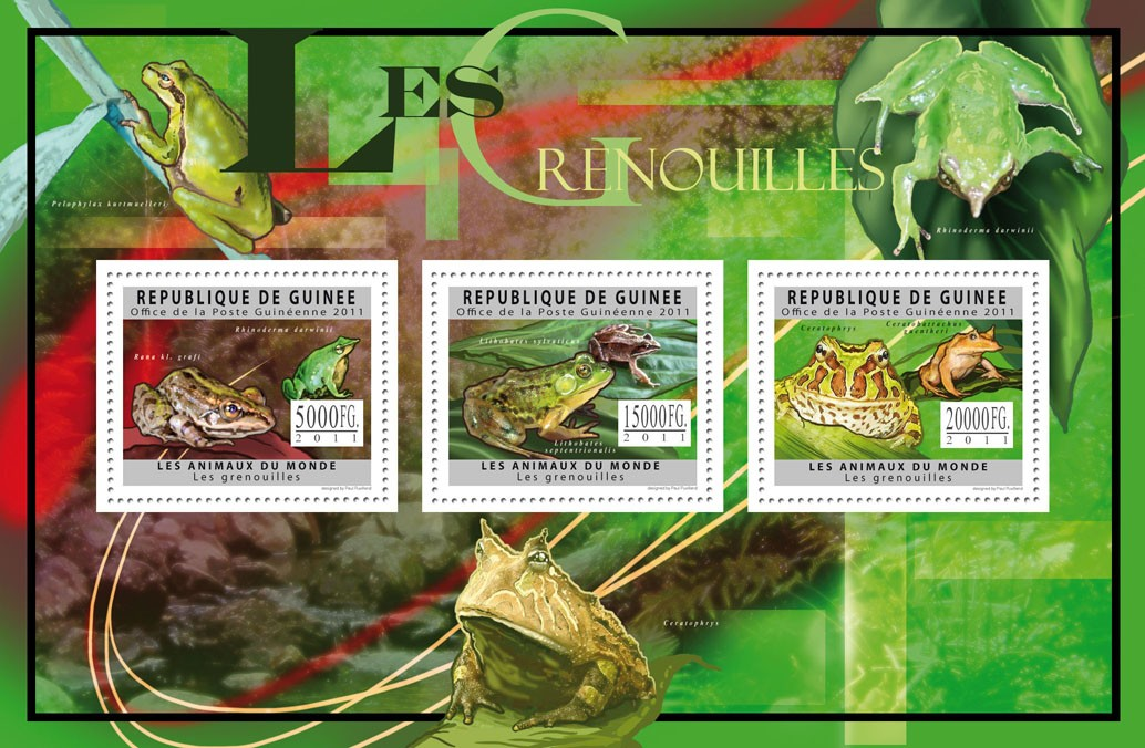 Frogs. - Issue of Guinée postage stamps