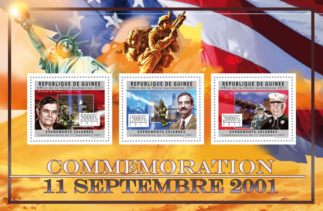 Commemoration of 11 September 2001, II. - Issue of Guinée postage stamps