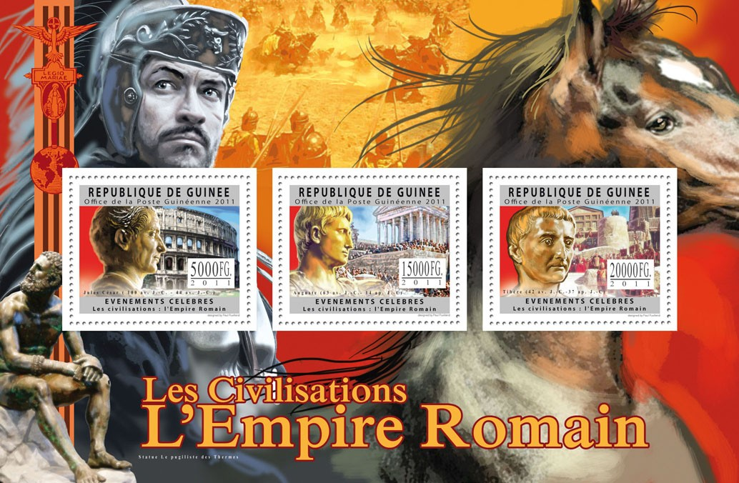 Civilization of Roman Empire. - Issue of Guinée postage stamps