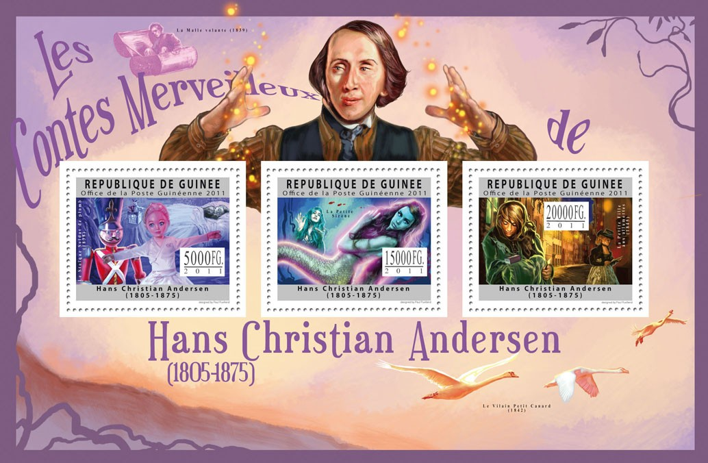Hans Christian Andersen, (1805-1875). - Issue of Guinée postage stamps