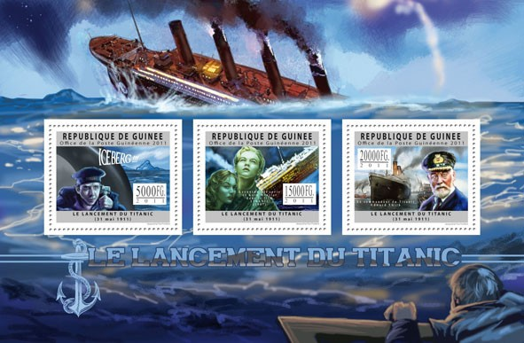 Centenary of the Titanic, I. - Issue of Guinée postage stamps