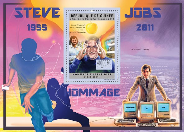 Tribute to Steve Jobs. - Issue of Guinée postage stamps