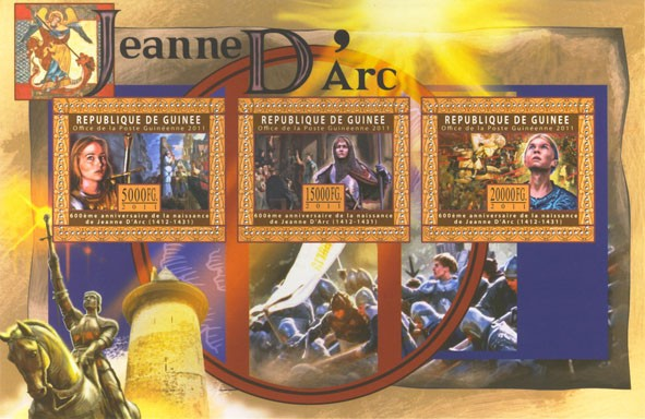 Joan of Arc, I. - Issue of Guinée postage stamps