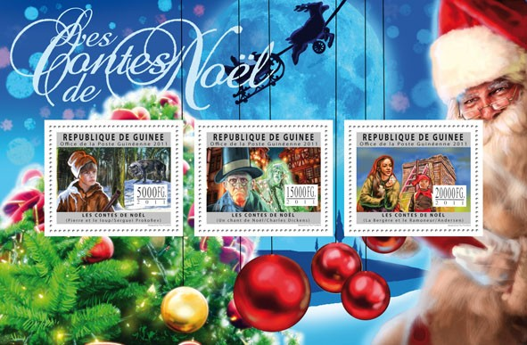 Tales of Christmas. - Issue of Guinée postage stamps