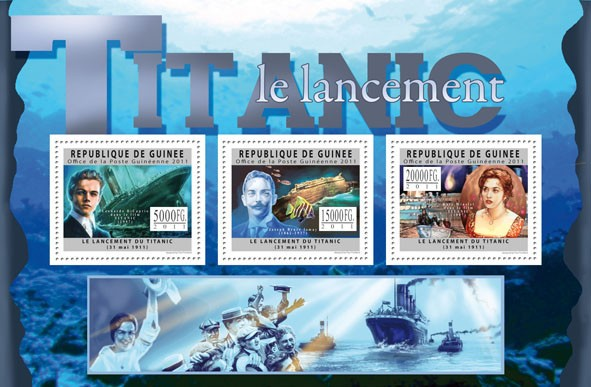 Centenary of the Titanic, II. - Issue of Guinée postage stamps