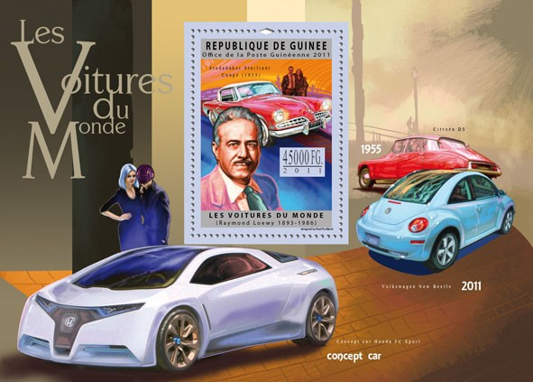 Cars of the World, (Studebaker Starlinger). - Issue of Guinée postage stamps