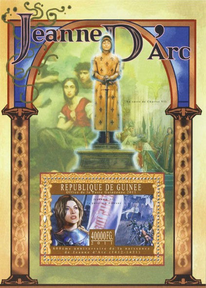 Joan of Arc, II. - Issue of Guinée postage stamps