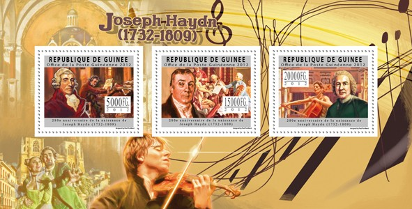 Joseph Haydn, (1732-1809). - Issue of Guinée postage stamps