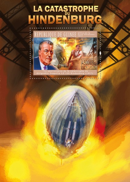The Hindenburg Disaster, (Zepelin LZ 129). - Issue of Guinée postage stamps