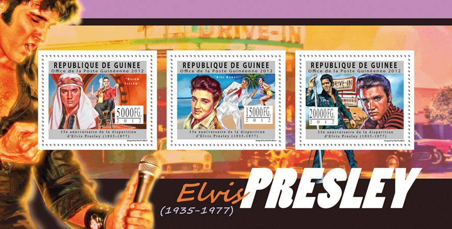 Elvis Presley, (1935 - 1977). - Issue of Guinée postage stamps