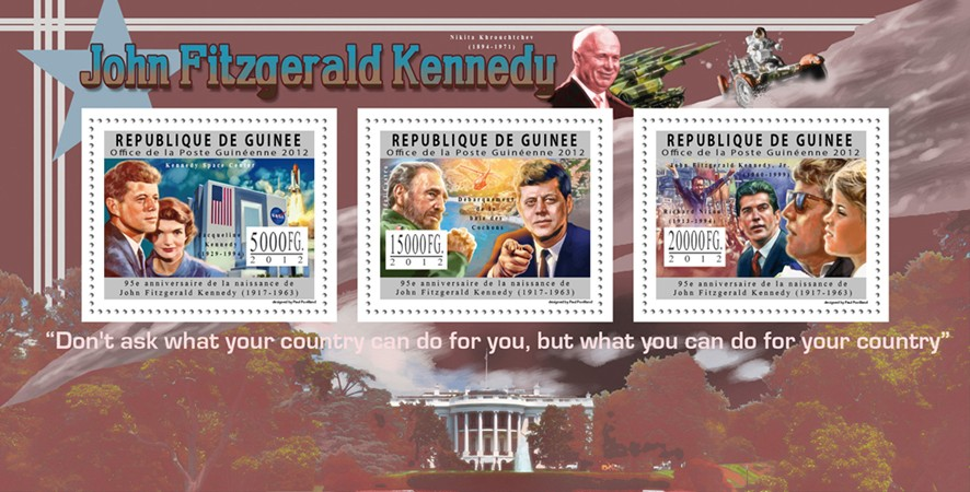 John Fitzgerald Kenedy, 95th Anniversary or Birth, (1917-1963). - Issue of Guinée postage stamps