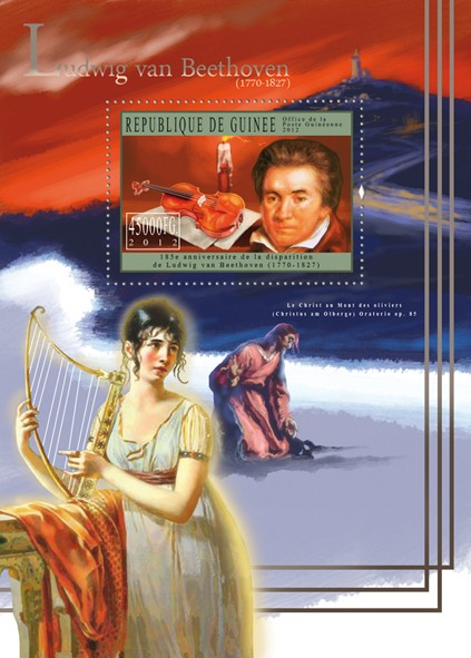 Ludwig van Beethoven, (1770-1827), Classic Music. - Issue of Guinée postage stamps