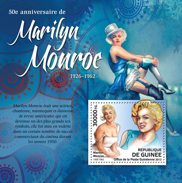 Marilyn Monroe (1926-1962) - Issue of Guinée postage stamps