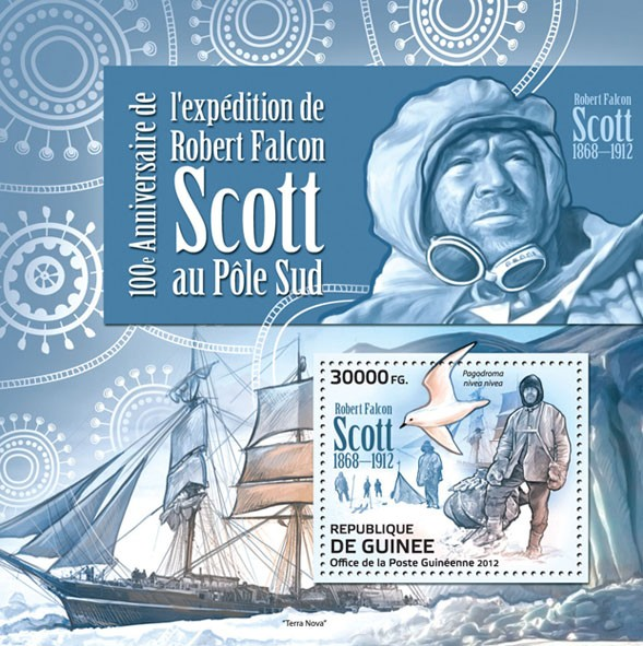 Robert Falcon Scott (1868-1912)(Pagodroma nivea nivea) - Issue of Guinée postage stamps