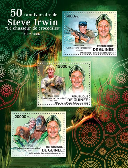 Steve Irwin (1962-2006) - Issue of Guinée postage stamps