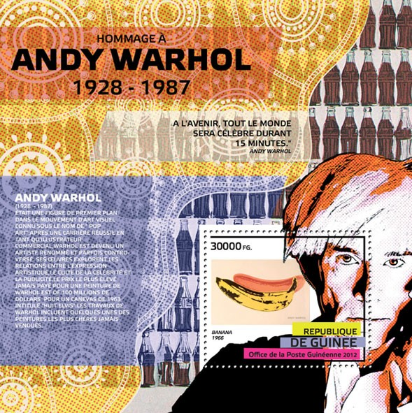 Andy Warhol - Issue of Guinée postage stamps