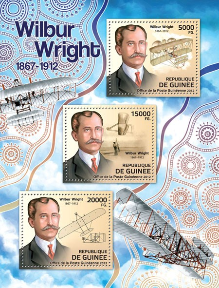 Wilbur Wright (1867-1912) - Issue of Guinée postage stamps