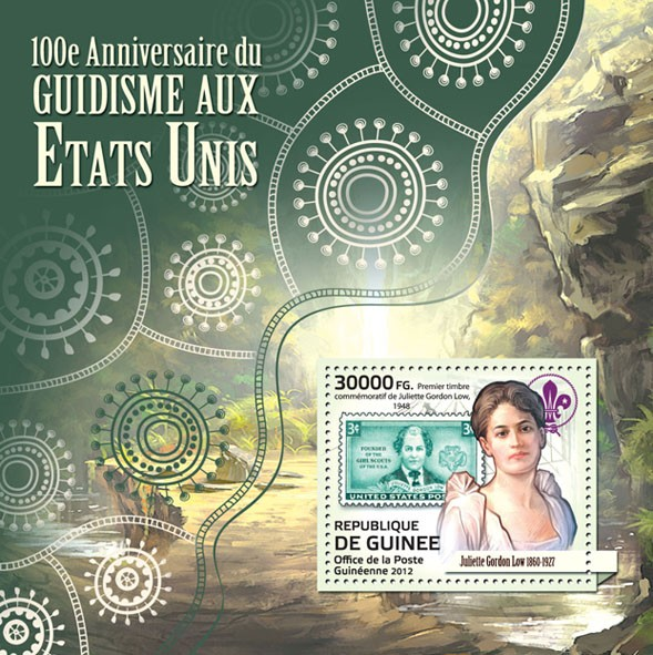 Scouts in USA (100th Anniversary) (Juliette Gordon Low) - Issue of Guinée postage stamps