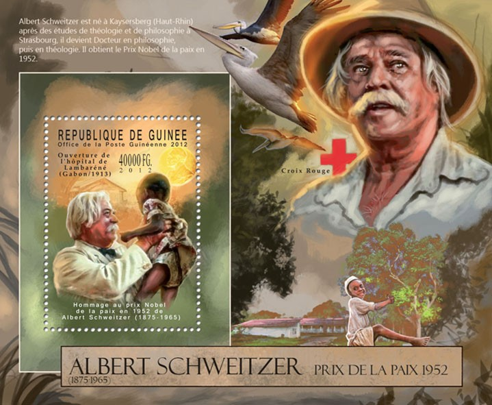 Albert Schweitzer / Red Cross (1875-196). - Issue of Guinée postage stamps