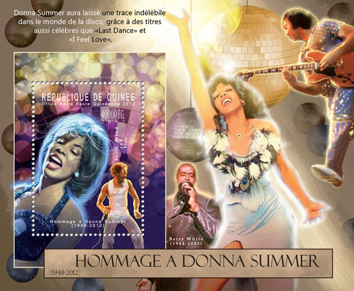 Donna Summer, (1948-2012). - Issue of Guinée postage stamps