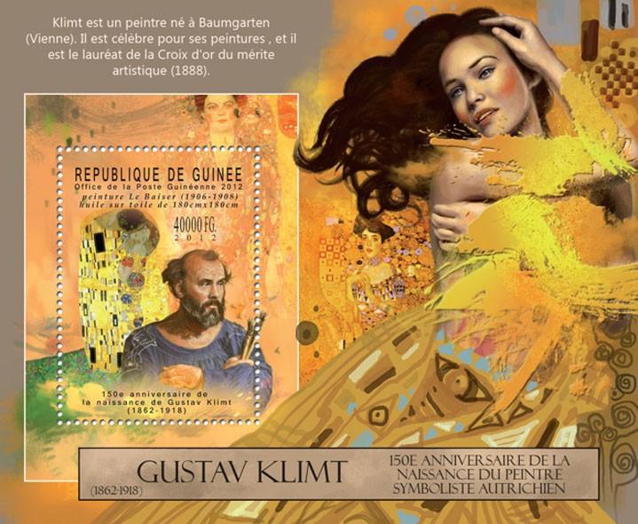 Gustav Klimt, (1862-1918). - Issue of Guinée postage stamps