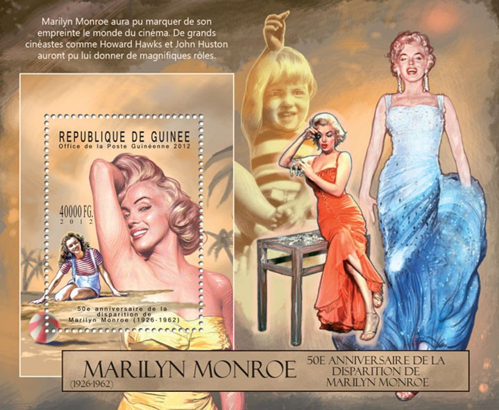 Marilyn Monroe - (II), (1926-1962). - Issue of Guinée postage stamps