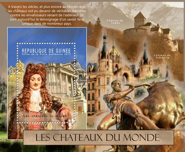 The Castles of the World, (Versailles). - Issue of Guinée postage stamps