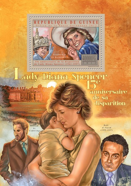 Lady Diana Spencer - Issue of Guinée postage stamps