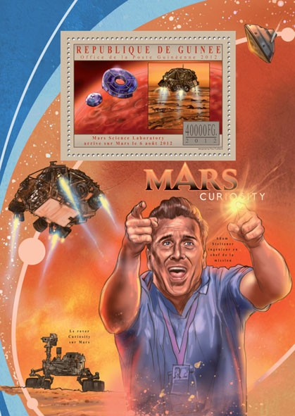 Mars Curiosity I - Issue of Guinée postage stamps