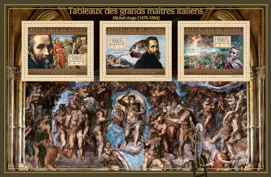 Great Italian Masters Paintings I - Issue of Guinée postage stamps