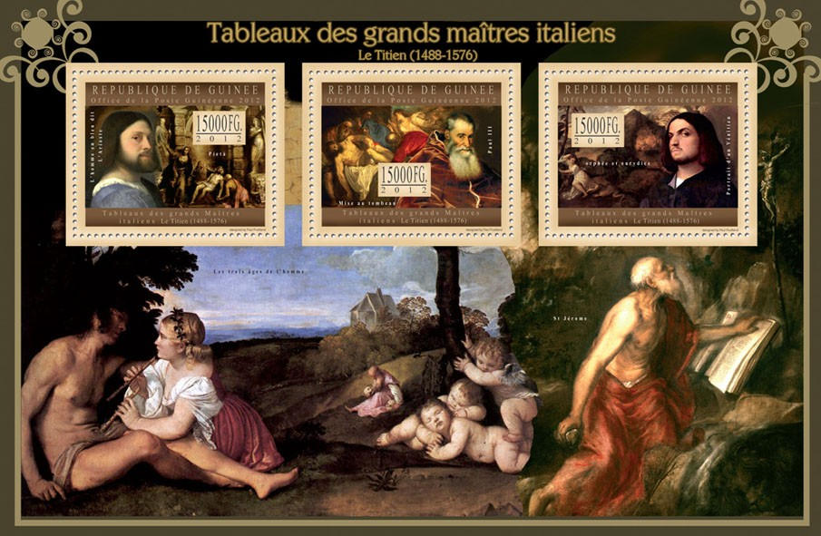 Great Italian Masters Paintings III, (Le Titien) - Issue of Guinée postage stamps