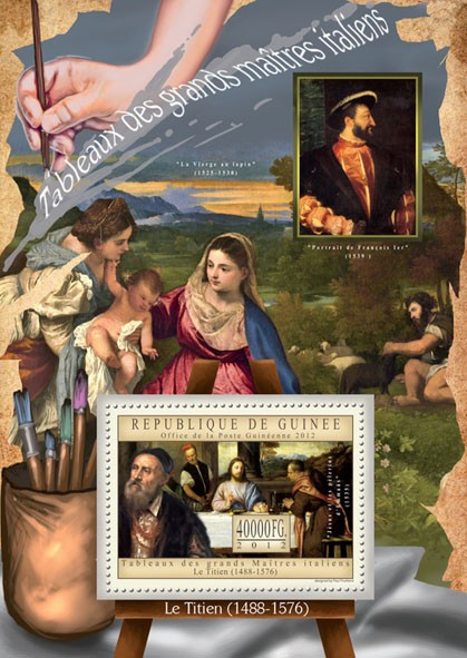 Great Italian Masters Paintings III - Issue of Guinée postage stamps