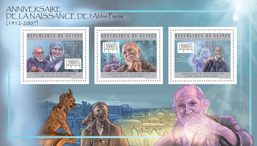 Abbe Pierre - Issue of Guinée postage stamps