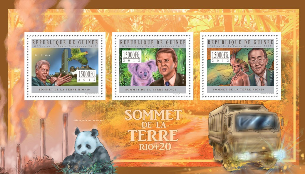 Earth Summit Rio +20 - Issue of Guinée postage stamps