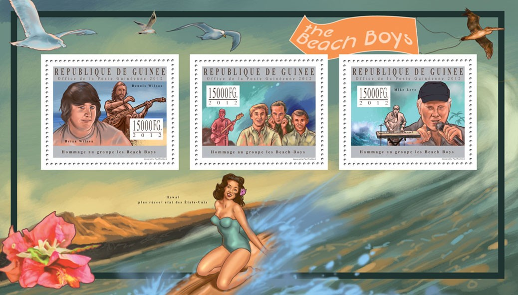 The Beach Boys - Issue of Guinée postage stamps