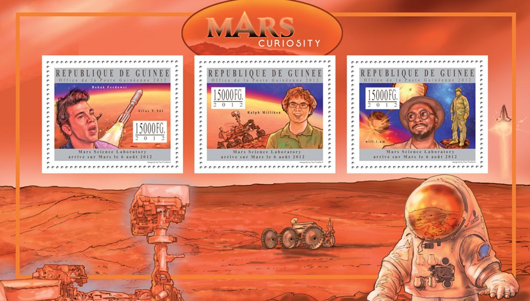 Mars Curiosity II - Issue of Guinée postage stamps