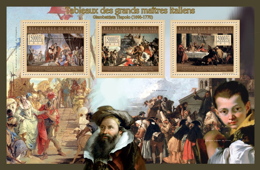 Great Italian Masters Paintings IV - Issue of Guinée postage stamps