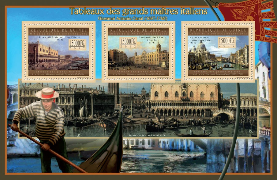 Great Italian Masters Paintings V - Issue of Guinée postage stamps
