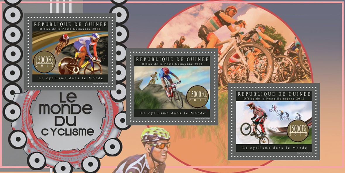 Cycling - Issue of Guinée postage stamps